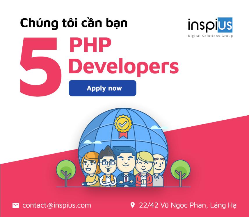 Việc làm đang tuyển dụng tại Inspius Singapore Pte. Ltd.